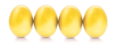 gold eggs: Success Symbol Concept gold eggs Stock Photo