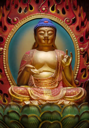 lord buddha: The Lord Buddha in Chinese Buddha Tooth Relic Temple, Singapore Editorial