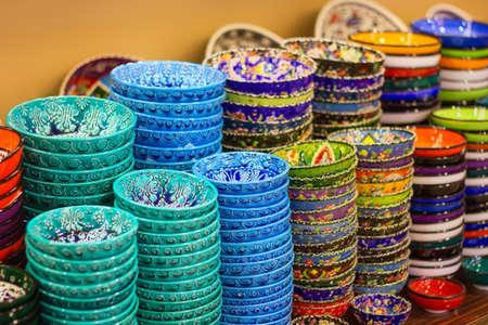 kapalicarsi: Traditional Turkish ceramics on the Grand Bazaar Istanbul, Turkey