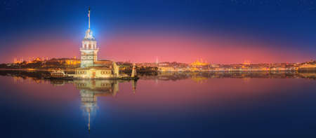 mosques: Maiden Tower or Kiz Kulesi Istanbul, Turkey