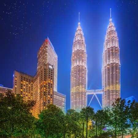 malaysia city: Kuala Lumpur night Scenery in the park, Malaysia.
