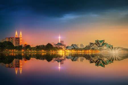city scene: Kuala Lumpur night Scenery, The Palace of Culture, Malaysia