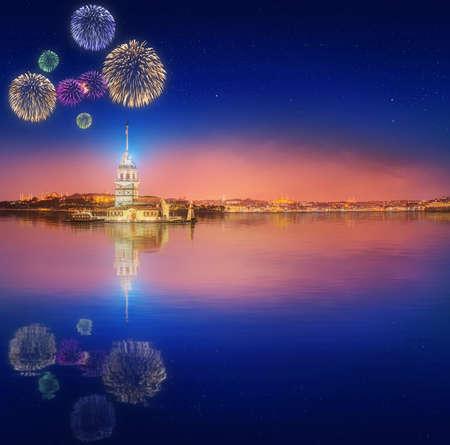 fiesta popular: Maiden Tower or Kiz Kulesi Istanbul, Turkey