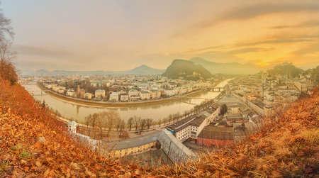 amadeus: Panoramic view of Salzburg, Salzburger Land, Austria Stock Photo