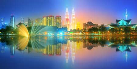 titiwangsa: Kuala Lumpur night Scenery, The Palace of Culture, Malaysia