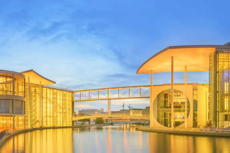 parliamentary: Panoramic view of new parliamentary complex in the new government quarter of Berlin, Germany.
