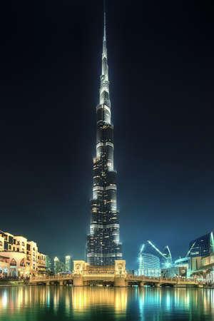 Burj Khalifa of Dubai Stock Photo