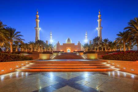 archways: Sheikh Zayed Grand Mosque Stock Photo