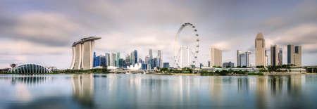 Singapore Skyline and view of Marina Bay Standard-Bild