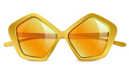 eyewear fashion: Realistic vector illustration of sunglasses