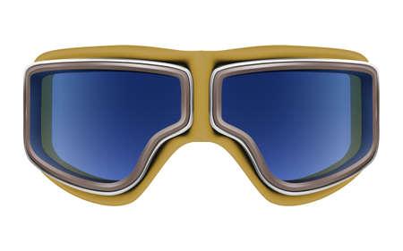 pilot  cockpit: Realistic 3D retro aviator goggles for airplane