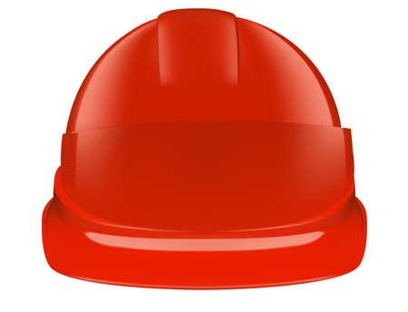Red safety helmet on white background Illustration