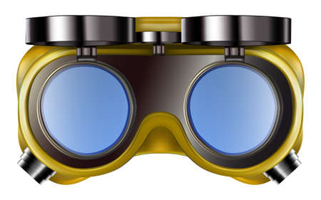 Welder safety glasses isolated on white