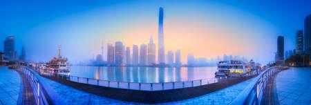 Beautiful cityscape of Shanghais skyline