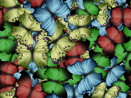 Seamless pattern with lot of different butterflys Stock fotó
