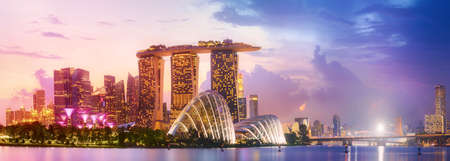 Singapore skyline background