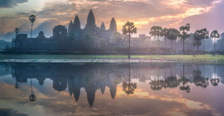 Temple complex Angkor Wat Siem Reap, Cambodia Standard-Bild