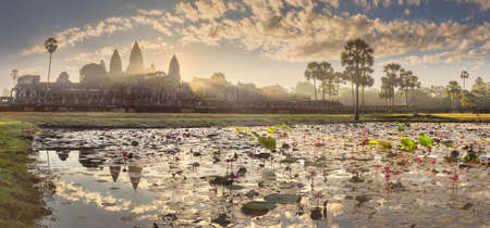 Temple complex Angkor Wat Siem Reap, Cambodia Stock Photo