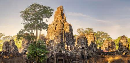 Ancient temple Bayon Angkor Siem Reap, Cambodia Stock Photo