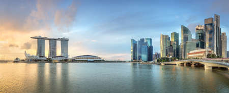 Business district and Marinabay in Singapore