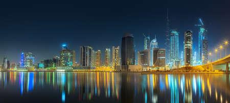Panoramic view of Dubai Business bay, UAE Stock fotó