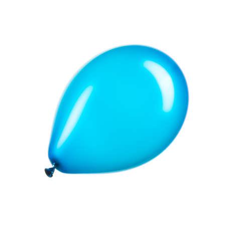 Single blue helium balloon, element of decorations