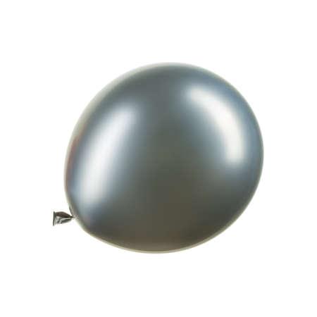 Single chrome silver helium balloon, element of decorations Stockfoto