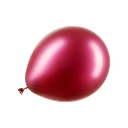 Single deep pink helium balloon, element of decorations Stockfoto