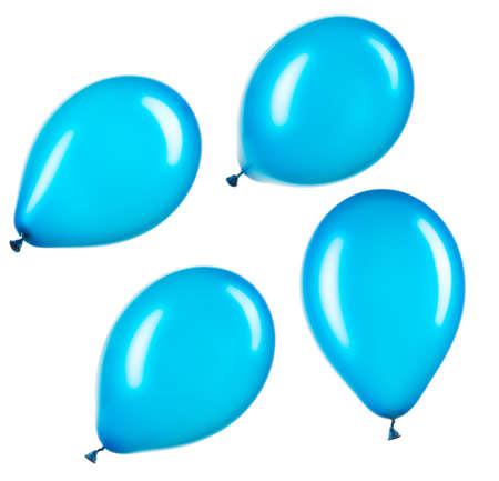 Set of blue helium balloons, element of decorations