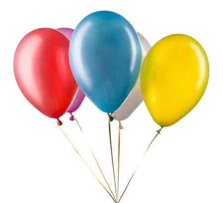 Conjunto de globos de helio multicolores.