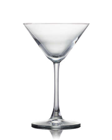 Empty martini glass isolated on a black
