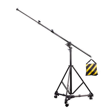 Photo studio lighting stands isolated on the white background. Stockfoto