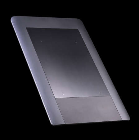 Graphic tablet for illustrators, designers and photographers isolated on black