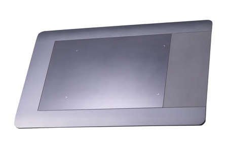 Top view of graphic tablet for illustrators, designers and photographers isolated on white background with clipping path