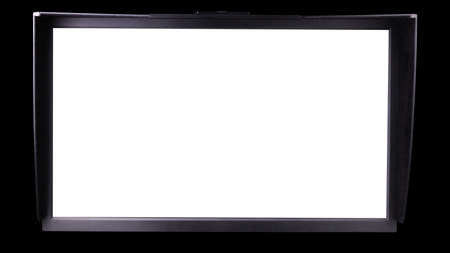 Professional photographer computer monitor with shading hood