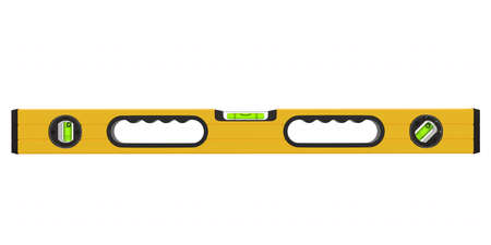 Building spirit level tool isolated on white