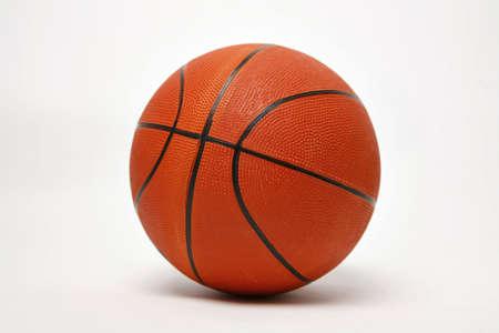 Basketball isolé sur blanc Banque d'images - 4270595