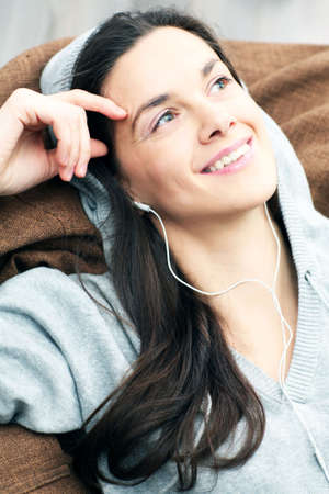 Relaxing with music Stock Photo - 4294797