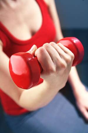 Jeune femme fait de l'exercice. Banque d'images - 4331119