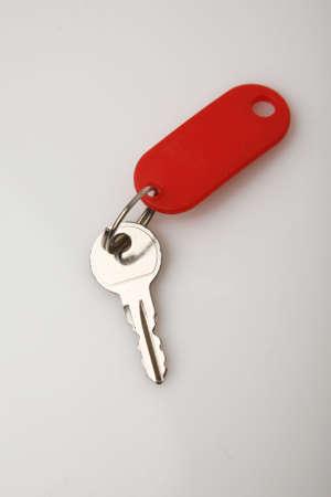 key isolated on white photo