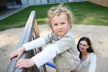 Little boy in a playground photo