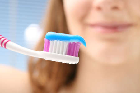 Brushing teeth photo