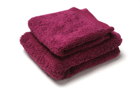 Bath towels isolated on white