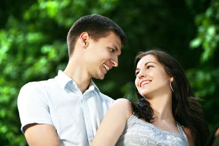 Couple in the park. photo