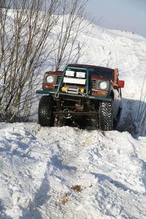 a 4X4 Jeep 版權商用圖片