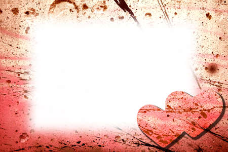Valentines day card with hearts. photo