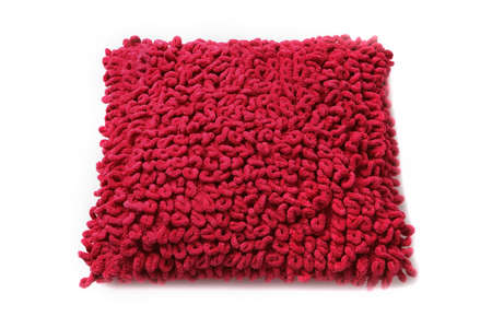 purl: Red Pillow. Isolated Stock Photo