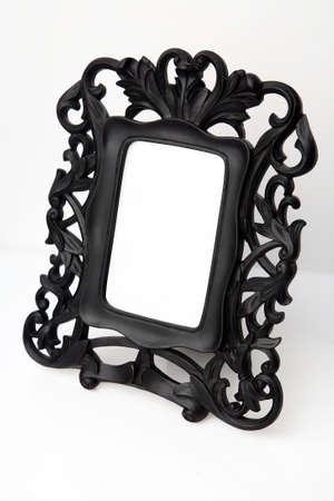 gild: Table photo frame.  Stock Photo