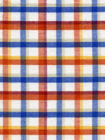 Abstract squared fabric background  Multicolored tablecloth texture photo