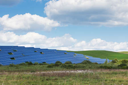 Solar energy panels in countryside Stock Photo - 21572852